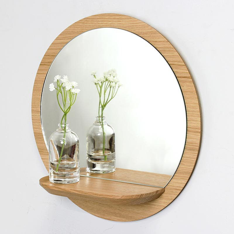 Miroir rond avec tablette reine m re design for Miroir rond design
