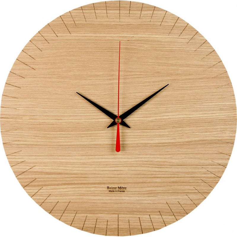 horloge murale ronde en bois reine m re design. Black Bedroom Furniture Sets. Home Design Ideas