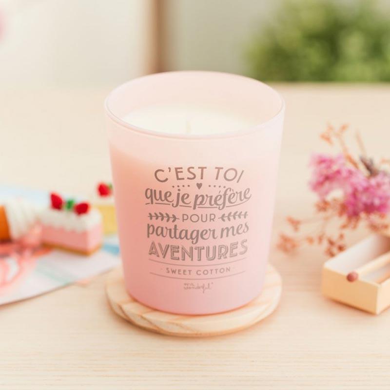 Bougie Parfumée Coton Mr Wonderful