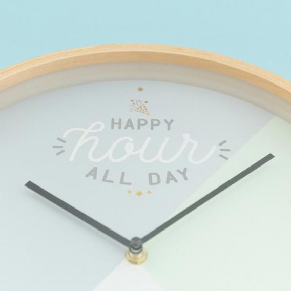 Horloge murale bois clair @bonjourbibiche