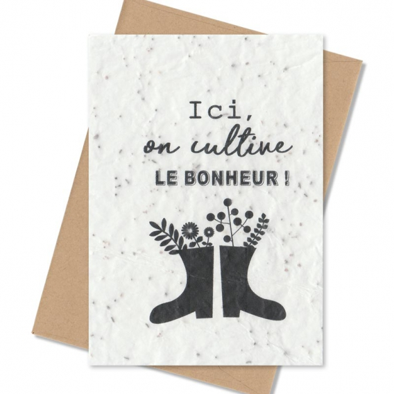 Carte de voeux à planter @bonjourbibiche