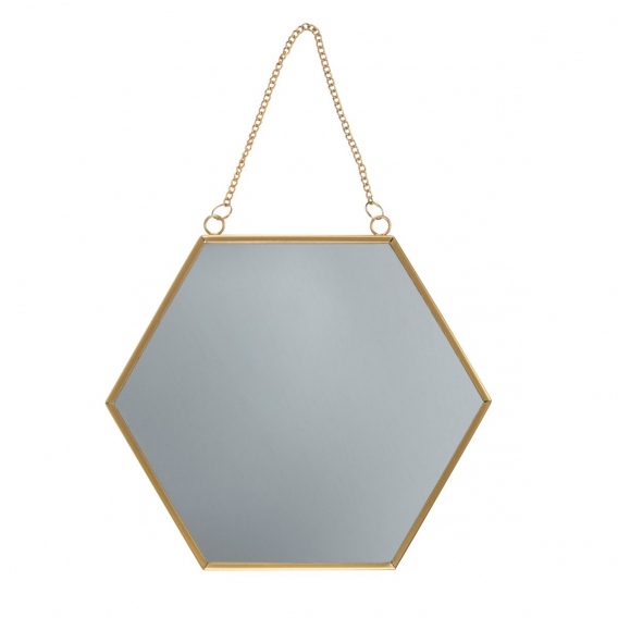 Miroir hexagonal doré @bonjourbibiche