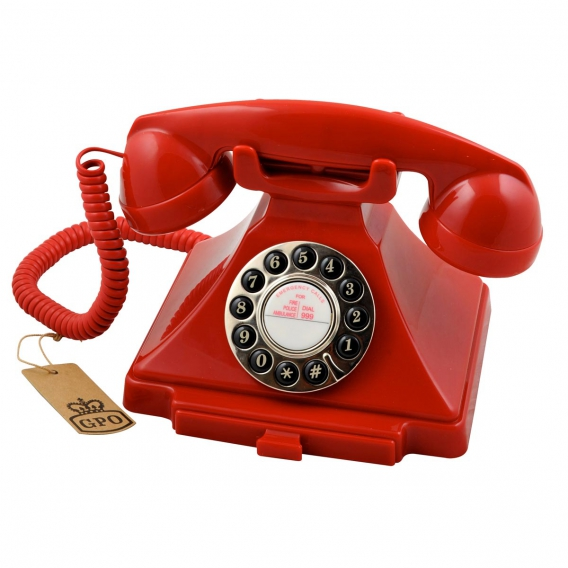 Téléphone néo rétro rouge @bonjourbibiche