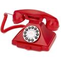 Téléphone néo rétro rouge