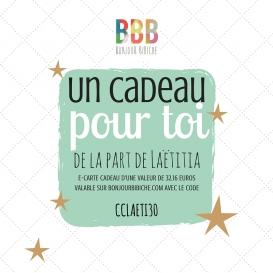 Carte cadeau électronique 50 € Bonjour Bibiche
