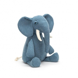 Peluche Elephant bleu @bonjourbibiche