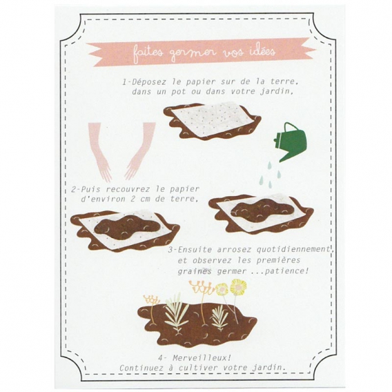 Carte postale avec graines @bonjourbibiche