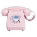 Téléphone fixe rose