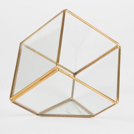 Terrarium géométrique doré @bonjourbibiche