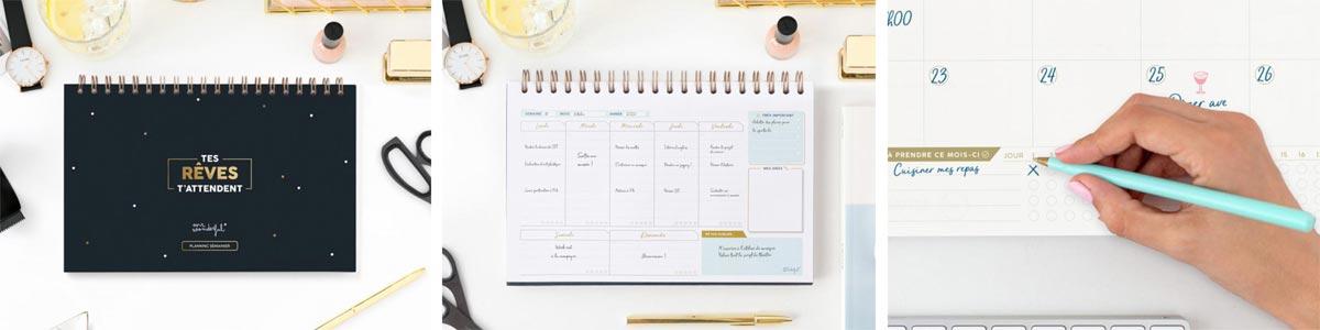 Agendas et calendriers @bonjourbibiche