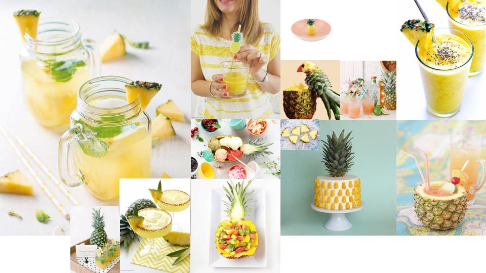 Ananas anniversaire. ANANAS DECO APERO