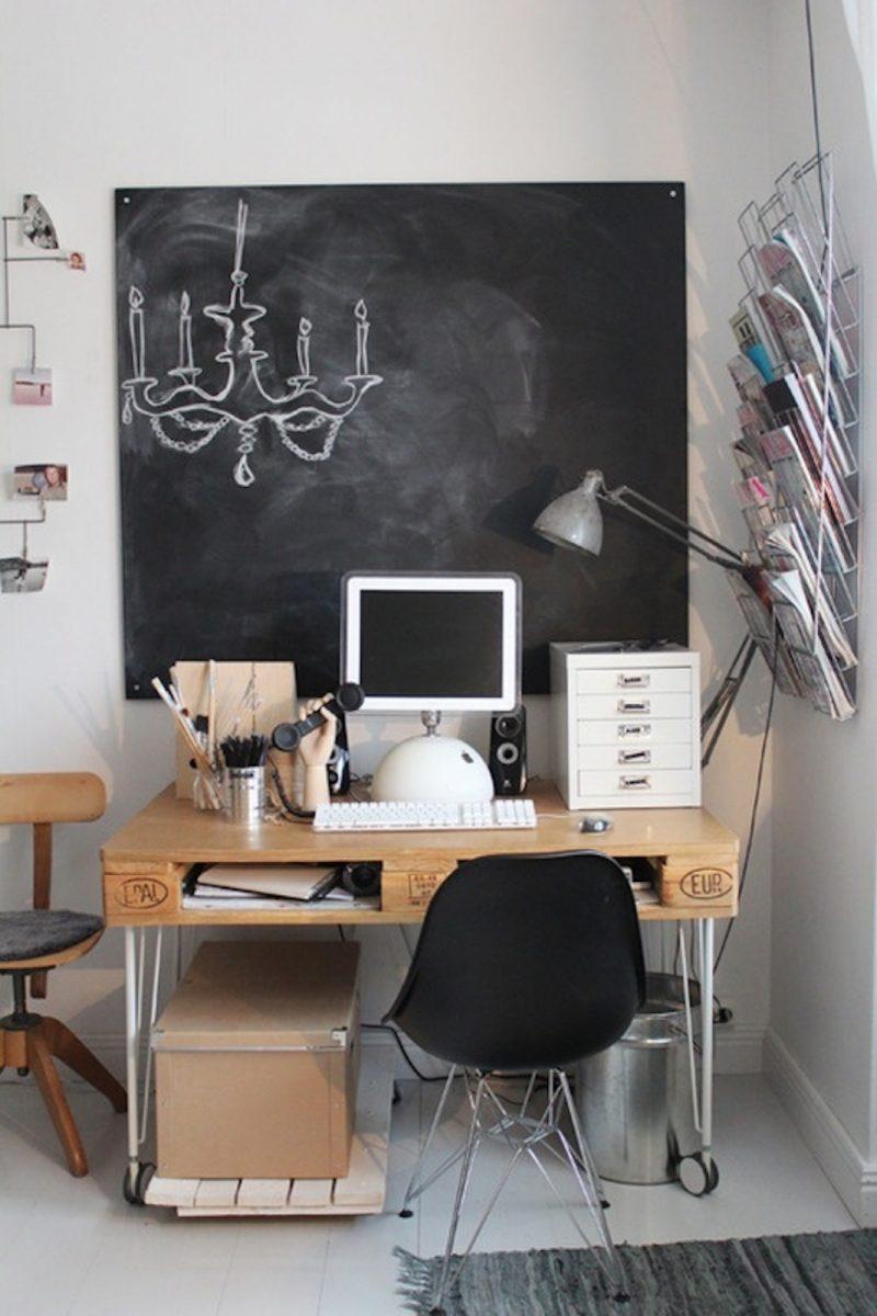 Bureau dans un salon