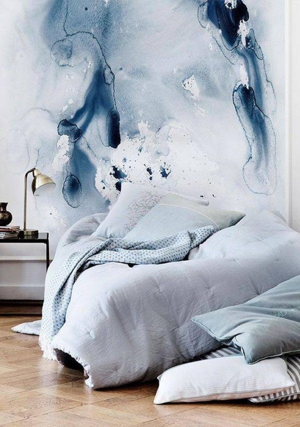 Chambre ton bleu