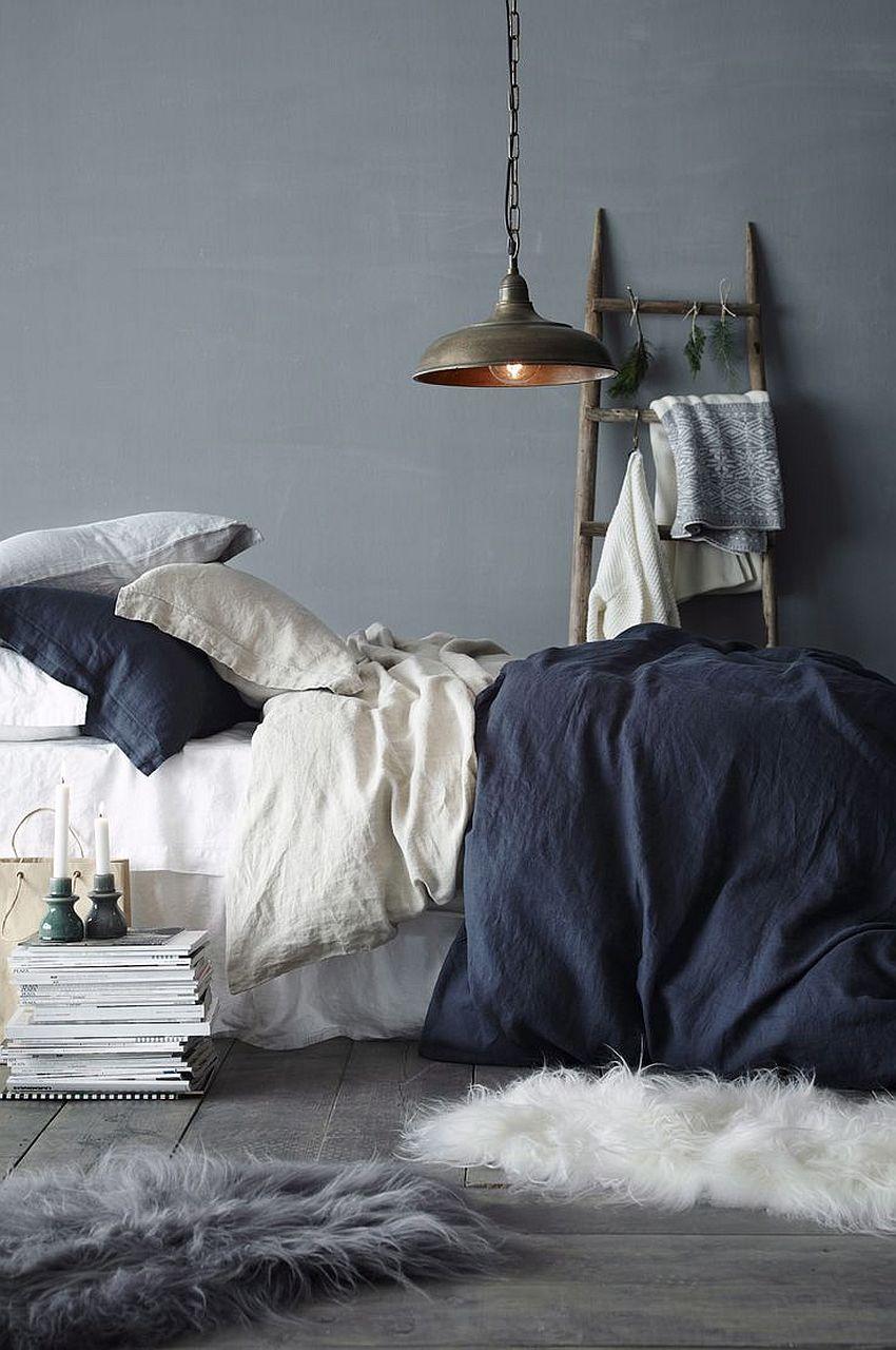 Couleur chambre bleu gris