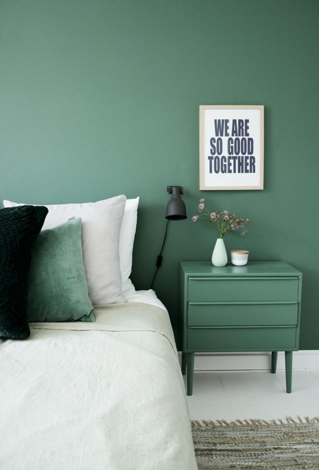 Chambre couleur vert
