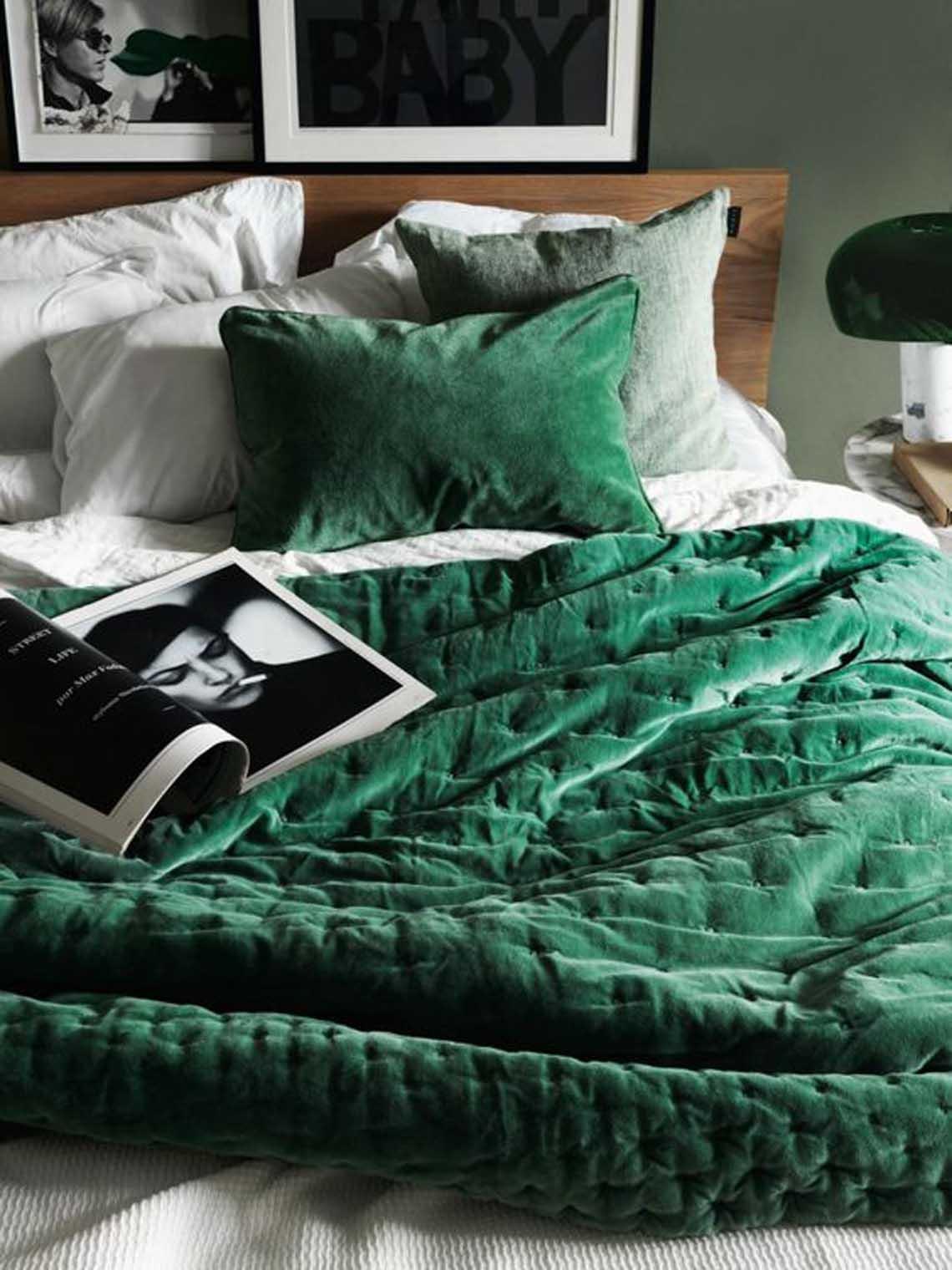 Chambre en vert