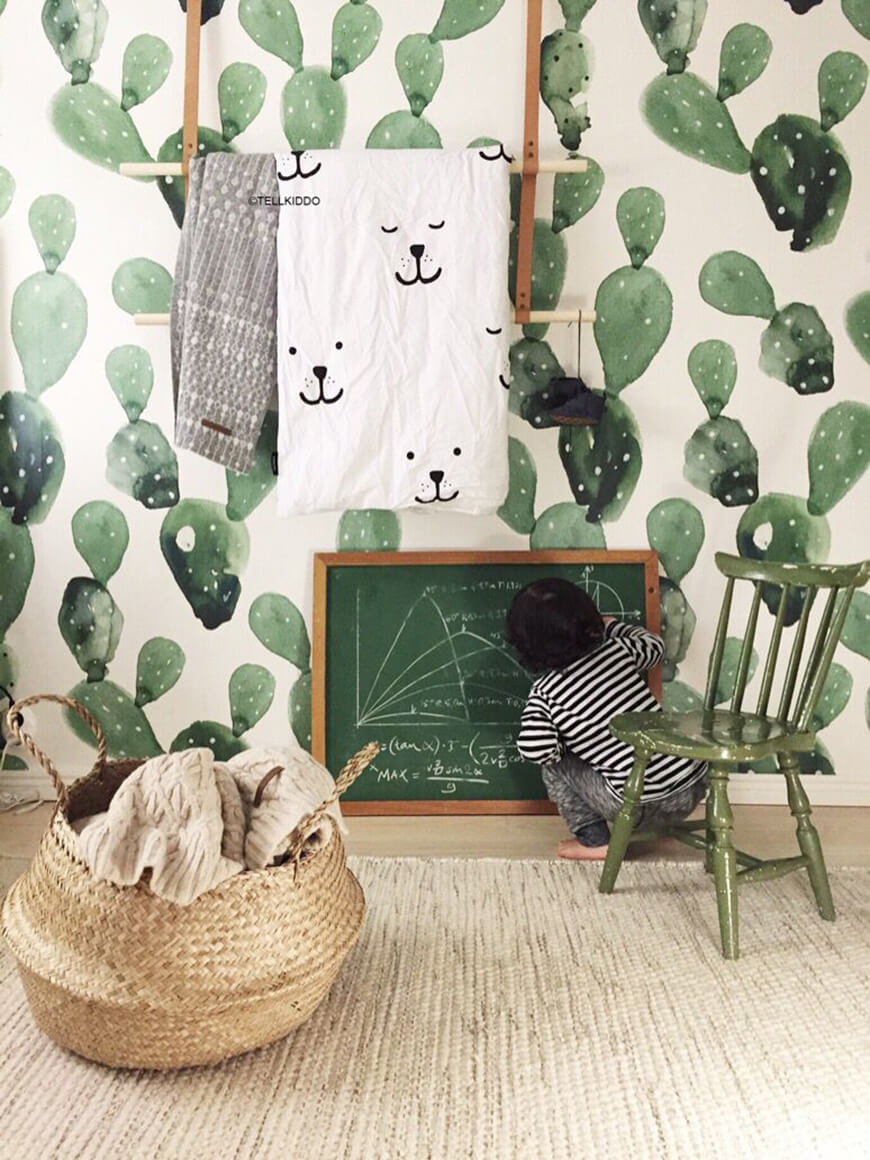 Chambre verte enfant