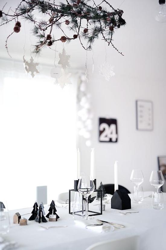 Table noel blanche source homerefreshing it table de noel a faire soi meme idée déco