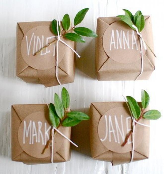 Idée papier cadeau original