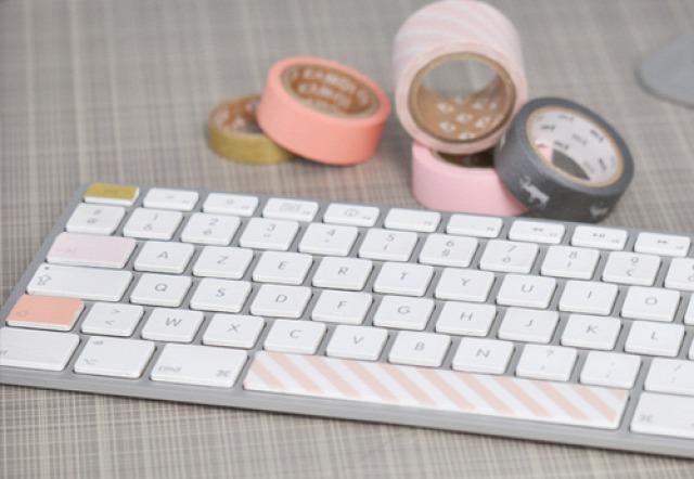 Masking tape clavier