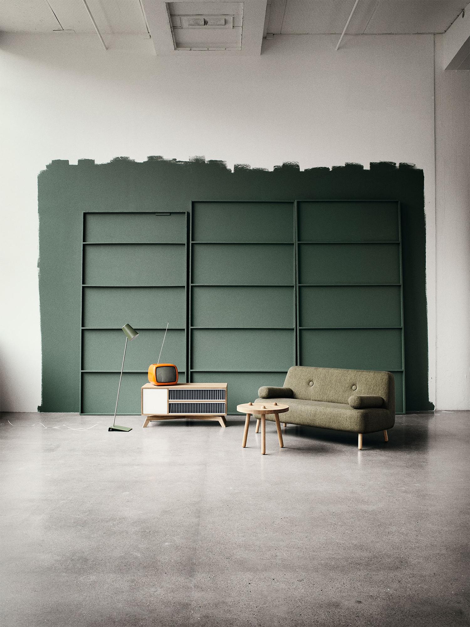Salon couleur vert