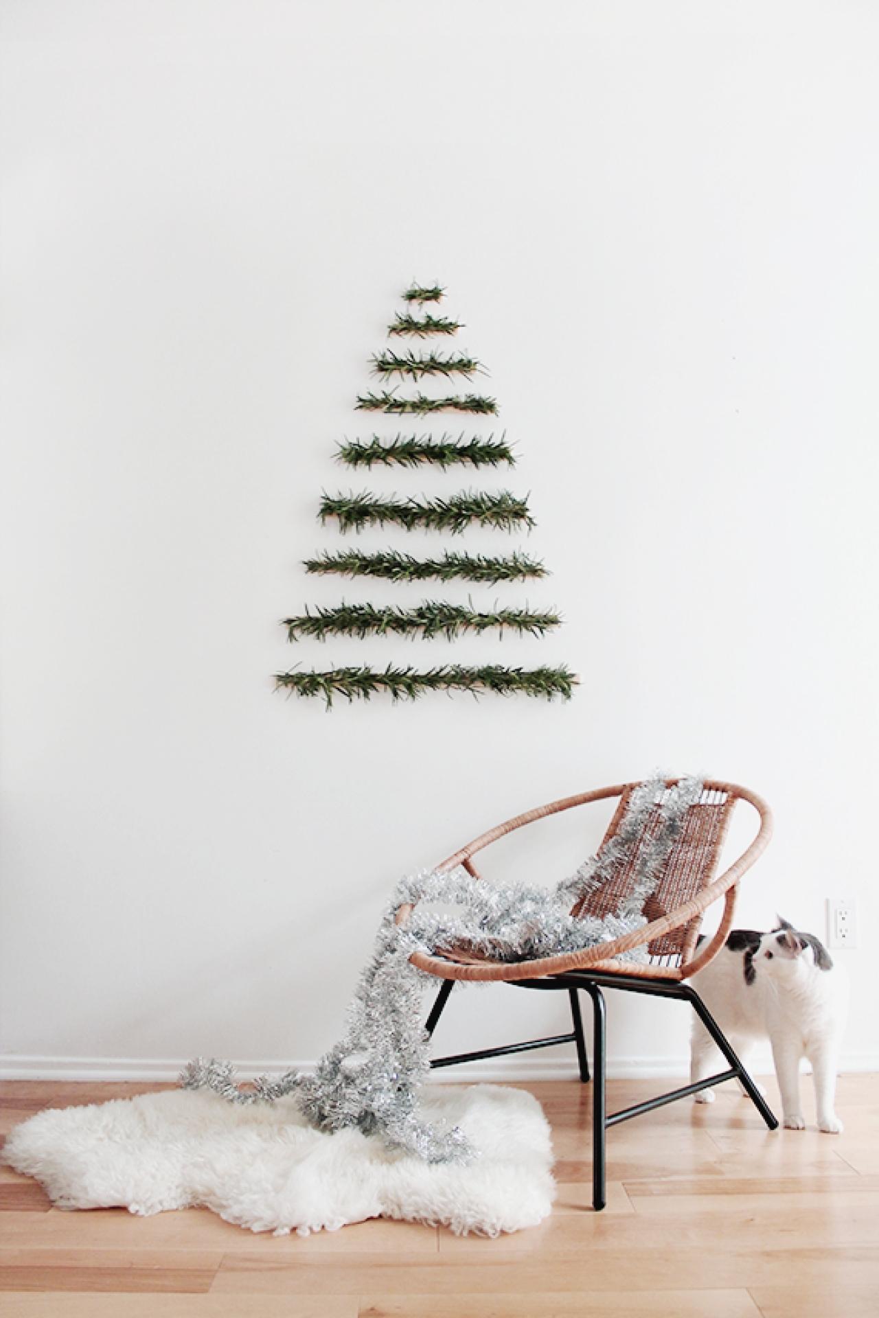 20 id es d co r aliser avec des branches de sapin. Black Bedroom Furniture Sets. Home Design Ideas