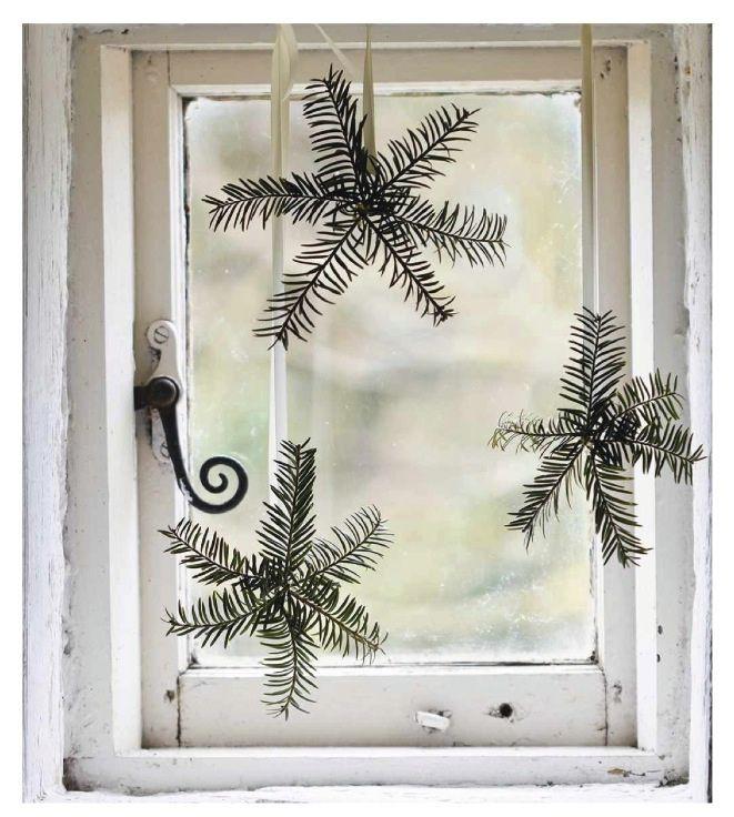 Deco de noel avec des branches
