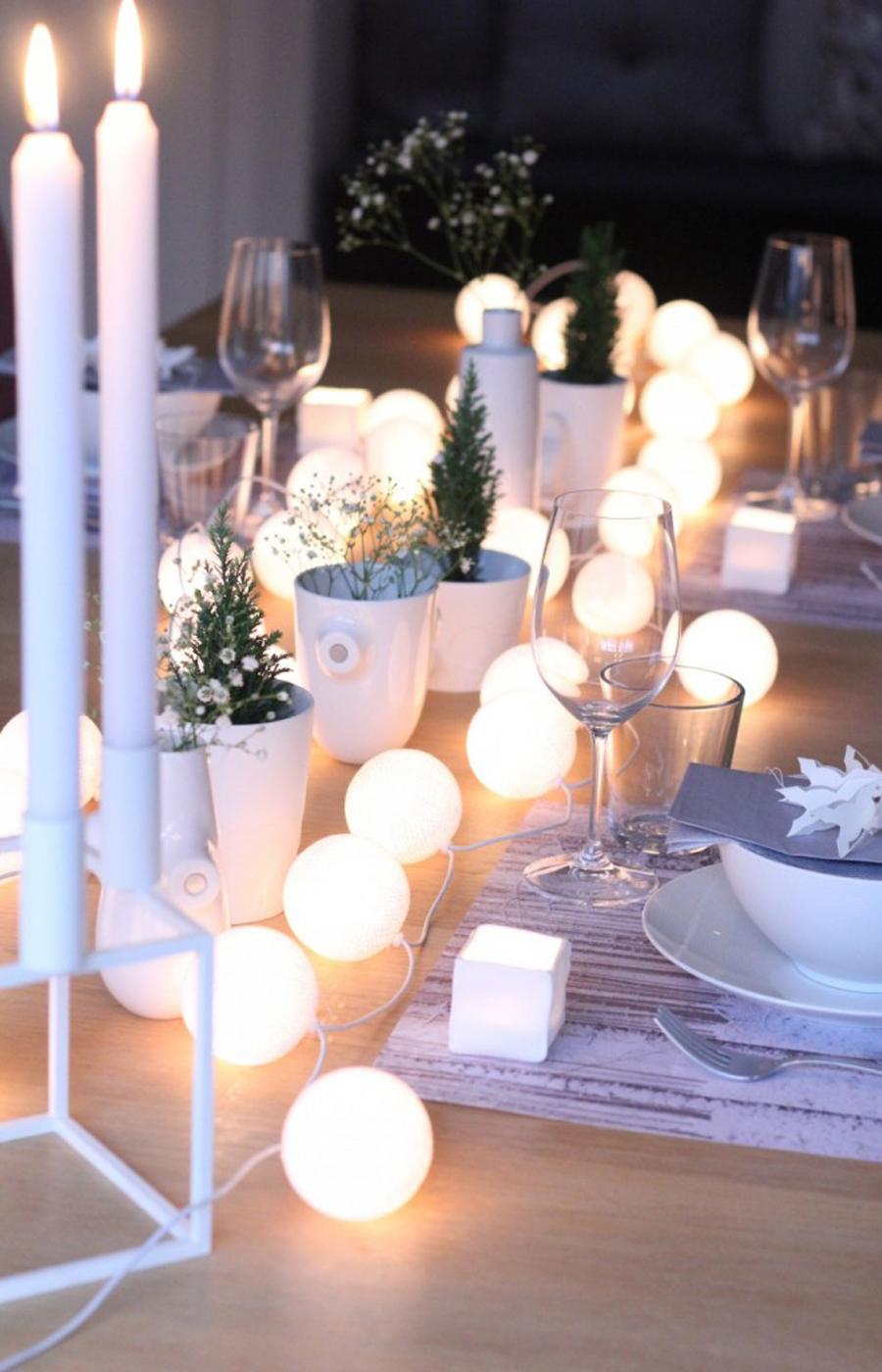 Décoration table de Noël à faire soi même