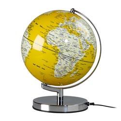 Globe terrestre jaune
