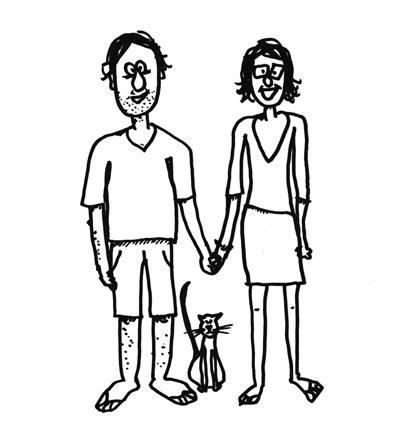 caricature de Juliette & Guillaume @bonjourbibiche