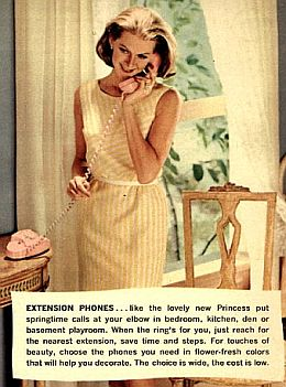 Le Princess Phone, un téléphone fixe, compact et destiné aux femmes