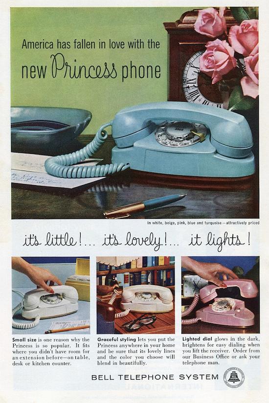 téléphone princess : publicité originale