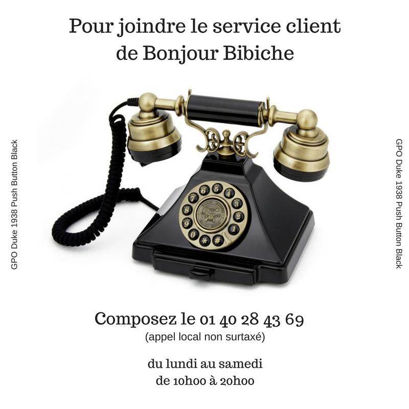 Le service client de Bonjour Bibiche, boutique en ligne de créateurs, est joignable 6j/7 de 10h00 à 20h00