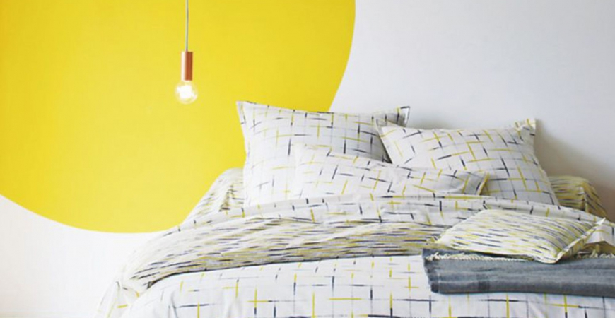 peinture jaune 5 id es d co pour illuminer une chambre. Black Bedroom Furniture Sets. Home Design Ideas
