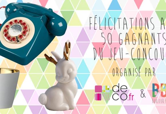 Résultats du Jeu-concours Deco.fr