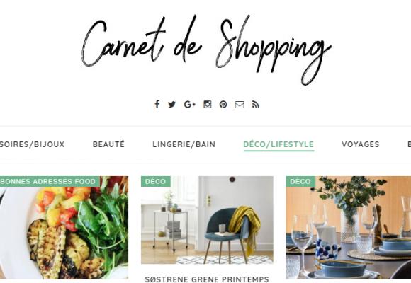 Portrait Shopping de Sabrina du blogzine Carnet de Shopping